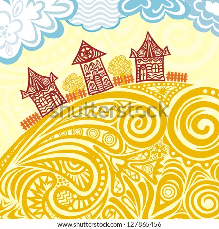 Houses vector illustration - stock vector
