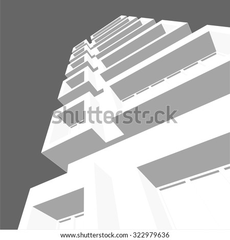 Housing architecture building. Vector background - stock vector