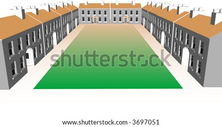 Housing Community - stock vector