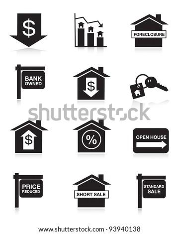 Housing Market Icons - stock vector