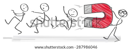 How to Attract an Audience - illustration - stock vector