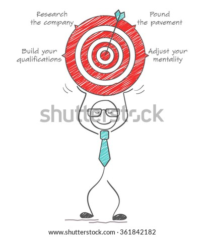 How to find a job. Business goal concept. - stock vector
