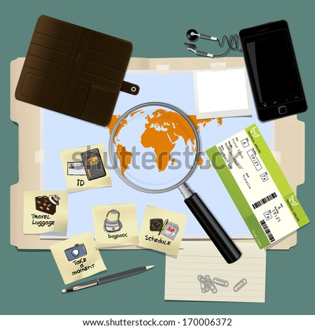 How to prepare for travelling, new travel icon stuff vector collection set - stock vector