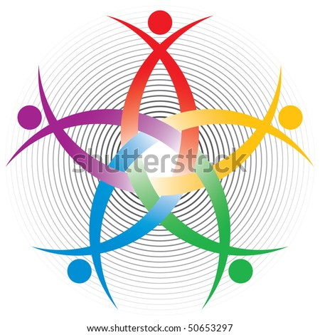 HR colorful symbol - stock vector