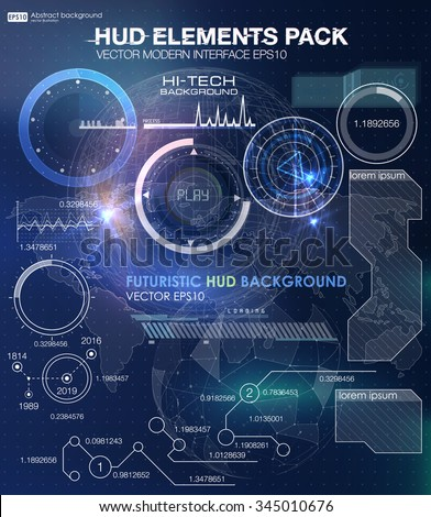 HUD background outer space. infographic elements. futuristic user interface. Vector science Polygonal background. Futuristic HUD background. Vector science background. Business abstract - stock vector