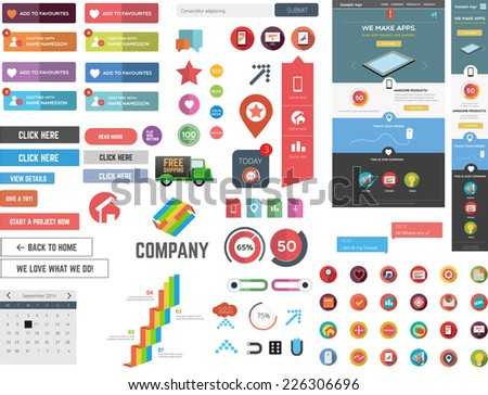 Huge collection of web graphics - stock vector