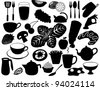 Huge Set of Food and Cooking Icons EPS 8 vector, grouped for easy editing. No open shapes or paths. - stock vector