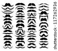 Huge set of vector mustache. - stock vector