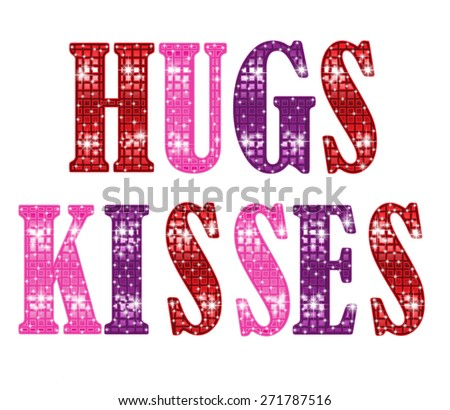 Hugs And Kisses - stock vector