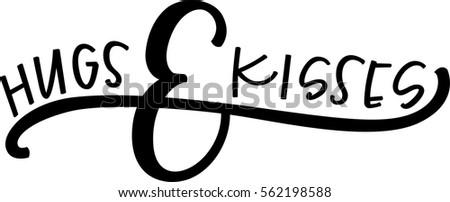 hugs kisses stock vector 562198588 shutterstock rh shutterstock com animated hugs and kisses clipart free clipart hugs and kisses