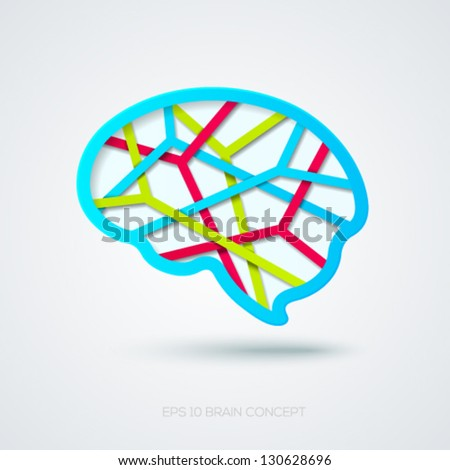 Human brain colorful concept. Vector illustration. - stock vector