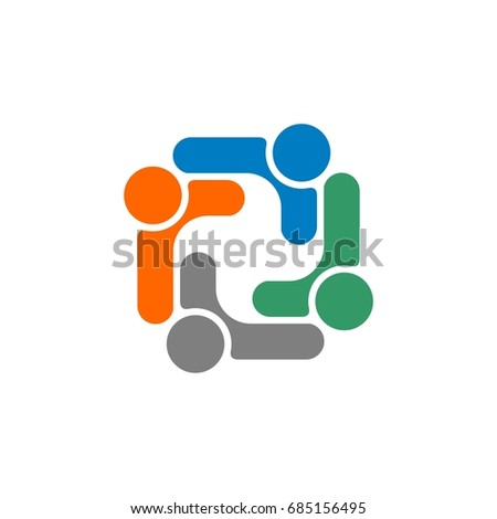 Human Care Teamwork Logo Template Stock Vector HD (Royalty Free ...