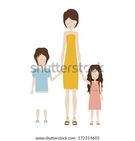 human design over white background vector illustration - stock vector