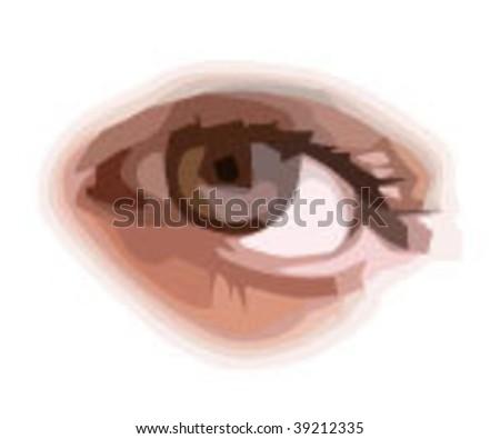 Human eye - stock vector