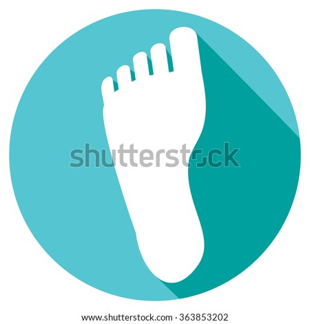 human foot flat icon - stock vector