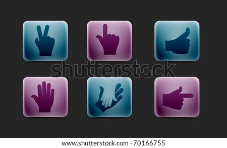 human hands icon, elements for your icon design. - stock vector