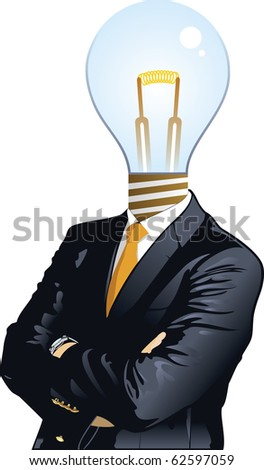 "Human heads with Bulb symbol. ""Business"" concepts. - stock vector"