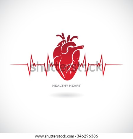 Human heart symbol. Vector illustration.
