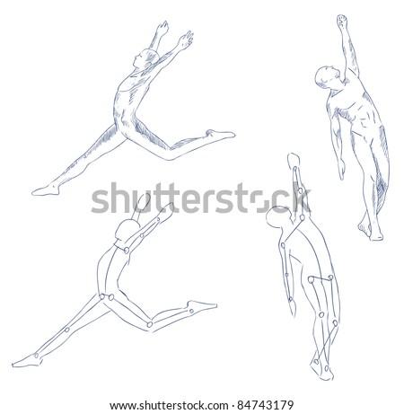 Human Body Sketch Images Stock Photos amp Vectors