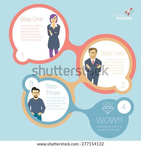 Human infographics. Vector template.  - stock vector
