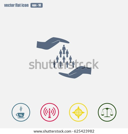 Human life insurance sign icon hands stock vector 516314371 human life insurance sign icon sciox Choice Image