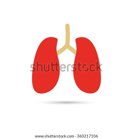 Human lungs color icon
