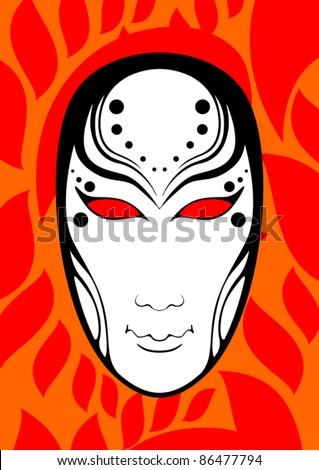 Human mask - stock vector