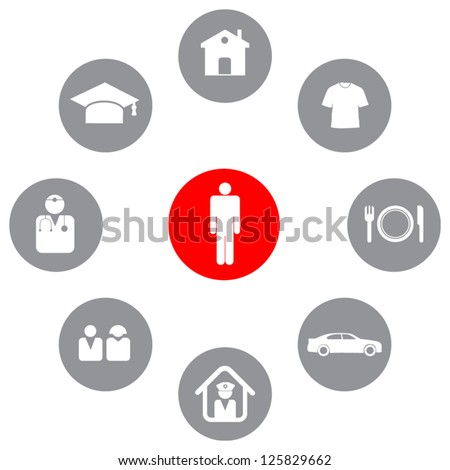 human needs illustration vector design. - stock vector