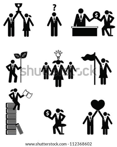 Human resource concept,icon set,Vector - stock vector