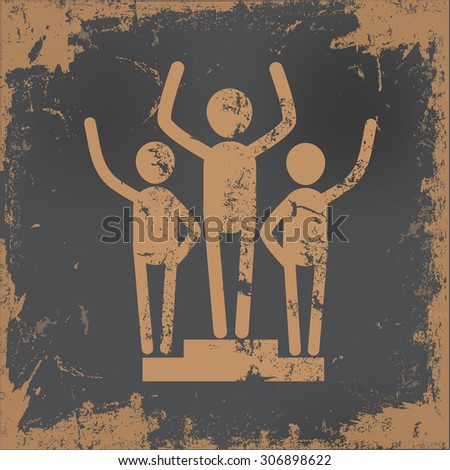 Human resource design on old paper background,vector - stock vector