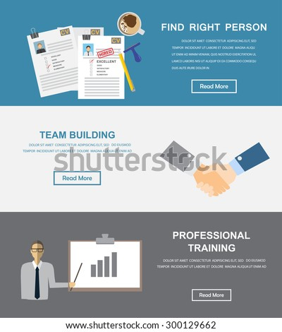 human resource, HR infographics element and background. recruitment process. Can be used for one page website, business data, web page design, cover page, brochure template. vector illustration - stock vector