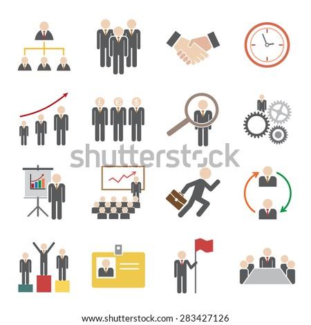 human resource icon - stock vector