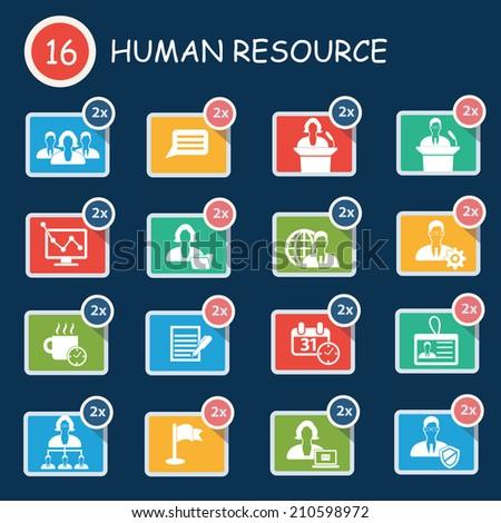 Human resource icon set,clean vector - stock vector