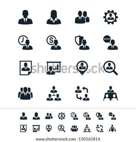 Human resource management icons - stock vector