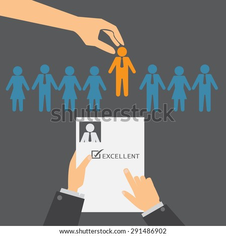 human resource or HR management infographics element and background. recruitment process. Can be used for statistic , business data, web design, info chart, brochure template. vector illustration - stock vector