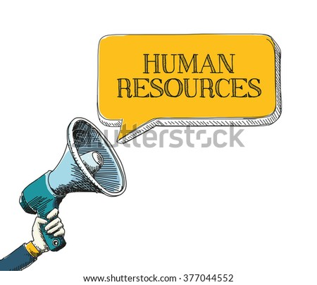 HUMAN RESOURCES - stock vector