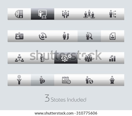 Human Resources // Classic Bars +++ The vector file includes 3 buttons states in different layers. +++ - stock vector