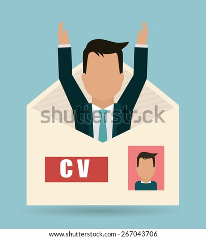 Human resources design over blue background, vector illustration. - stock vector