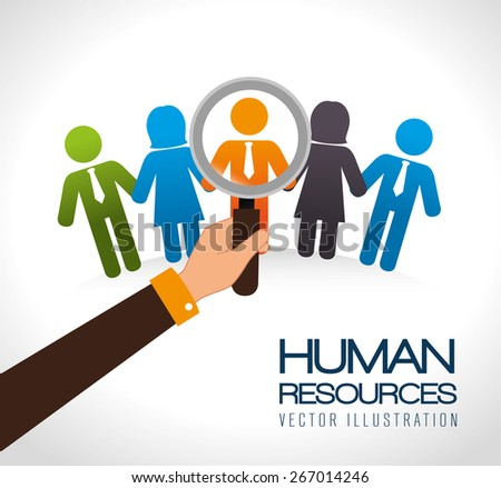 Human resources design over white background, vector illustration.