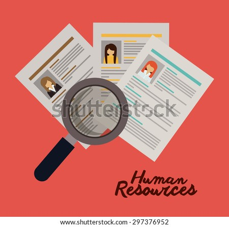 Human resources digital design, vector illustration eps 10 - stock vector