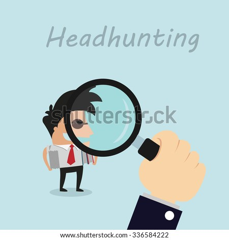Human resources headhunters finding professional employee from the lot