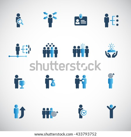 Human resources icon set. - stock vector