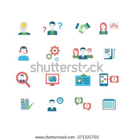 Human Resources Icons, eps 10, no transparencies - stock vector
