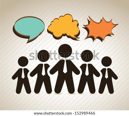 human resources over beige background vector illustration - stock vector