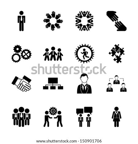 human resources over white background vector illustration - stock vector
