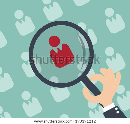 Human resources - personal audit and assessment center - stock vector