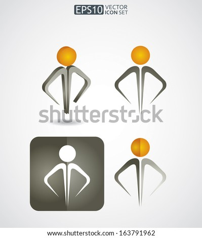 Human resources vector icon set  - stock vector