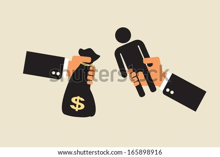 human resources , work forces trade - stock vector