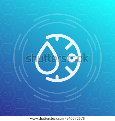 vector square blue icon lighting bulb. humidity line icon vector sign square blue lighting bulb
