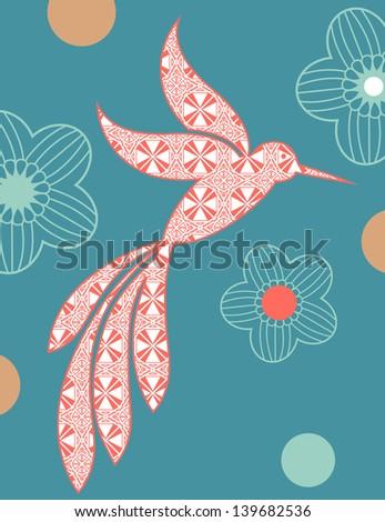 Hummingbird - stock vector